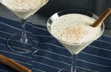 creamy eggnog cinnamon martini recipe