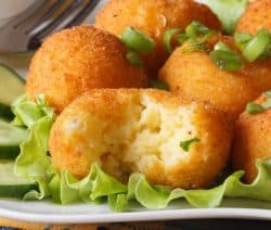 fried cheesy tapioca fritters recipe